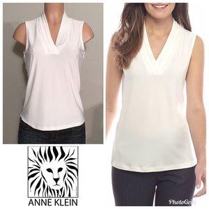 Anne Klein blouse. Ivory/white. NWT